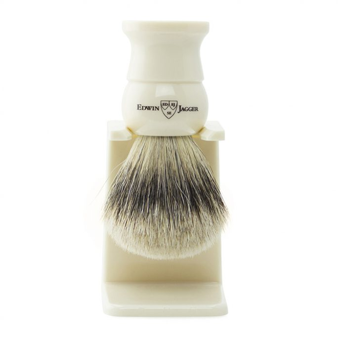 Edwin Jagger Shaving Brush - Super Badger & Stand - 1EJ287SDS