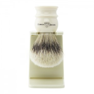 Edwin Jagger SilverTip Badger Brush & Stand - 1EJ467SDS