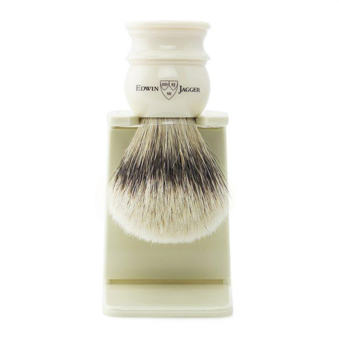 Edwin Jagger SilverTip Badger Brush & Stand - 1EJ467SDS