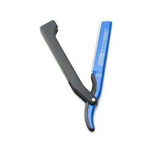 Dovo Shavette Razor Blue Steel Handle