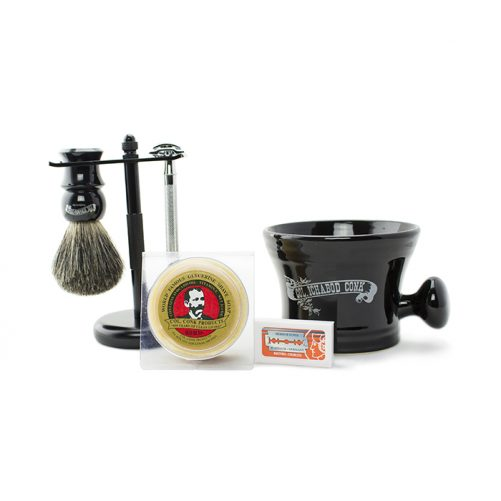 Col Conk Badger Brush & Merkur Safety Razor Set