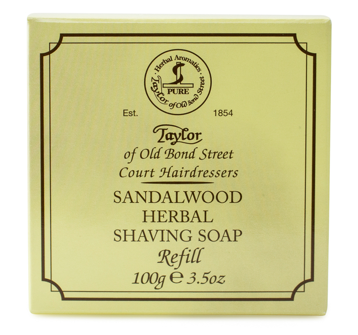 Taylor of Old Bond Street Hard Shaving Soap Sandalwood