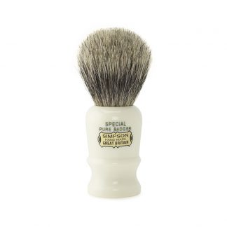 Simpsons Shaving Brush company has provided quality brushes for almost a 100 years which include models such as the Special S1 Pure Badger.