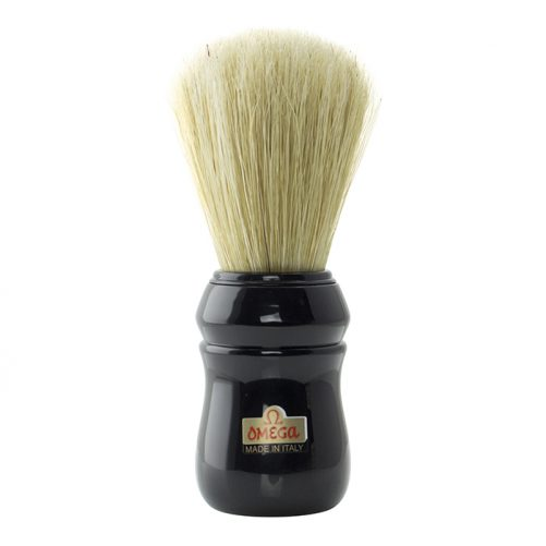 Omega Professional Hog Shaving Brush - Black