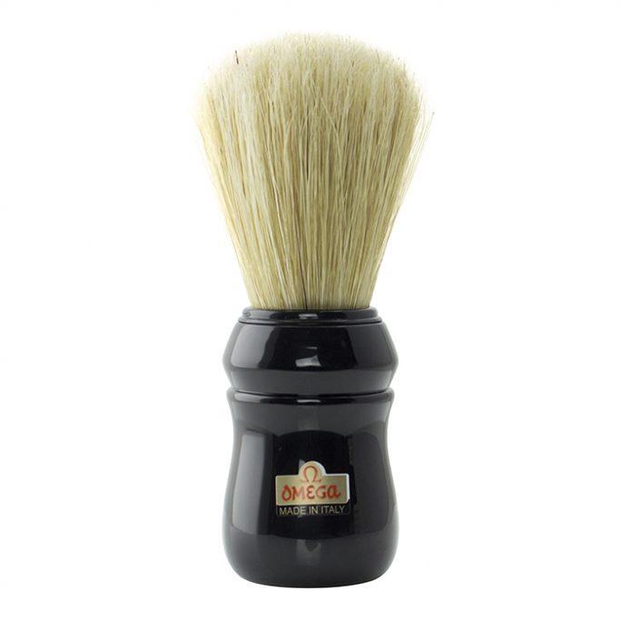 Omega Professional Hog Shaving Brush - Black