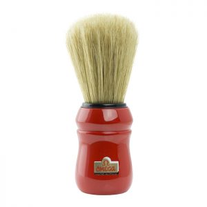 Omega Professional Hog Shaving Brush - Red