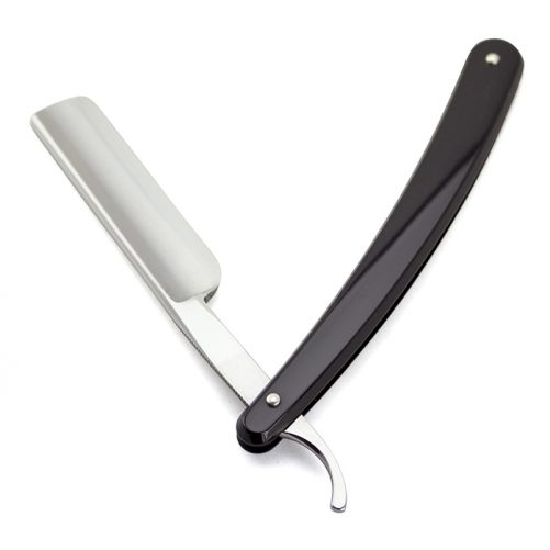 Dovo 5/8 Black Handle Half Hollow Ground Straight Razor