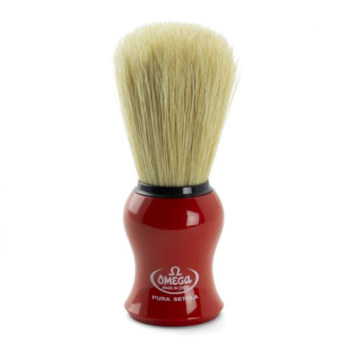 Omega Shaving Brush & Cream Set